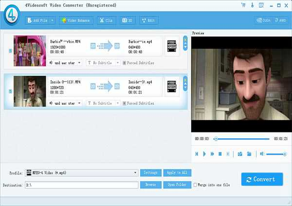 Convert AVI/MP4/SWF/MKV/FLV/WMV/VOB/MP3 to NDS