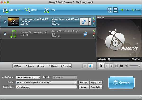 Convert VOX to MP3, WAV, FLAC, AIFF, WMA with VOX Player for Playing