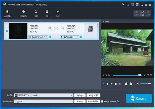 XMV Converter/Player: Convert XMV to AVI, convert XMV to WMV/MP4/MOV/ MP3