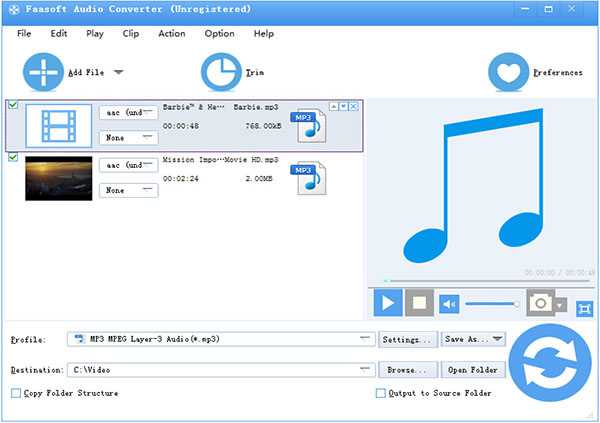 Convert MP3 Files to AU Successfully