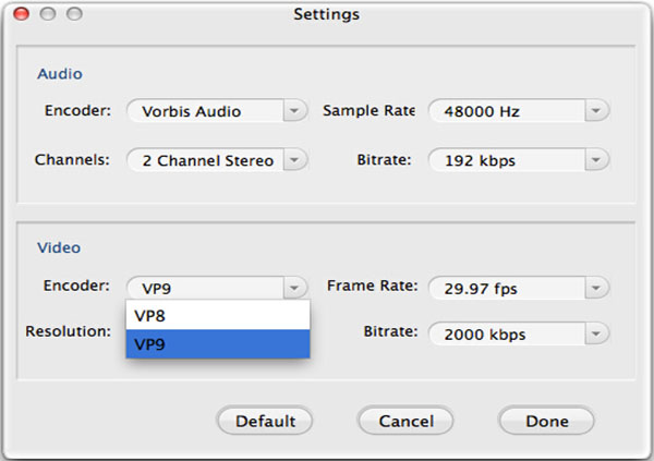 Encode or Decode or Convert VP9 Videos from/to AVI/ MP4/WMV/MKV/FLV/VOB Successfully